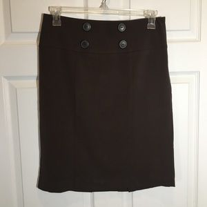 Apt. 9 Brown Pencil Skirt    Size 8